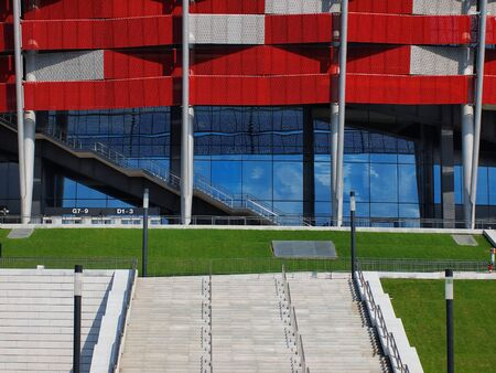 NATIONAL STADIUM IN WARSAW, POLAND - APRIL 21: Warsaw National Stadium on April 21, 2012. The National Stadium will host the opening match of the UEFA Euro 2012. Stock Photo - 13574810