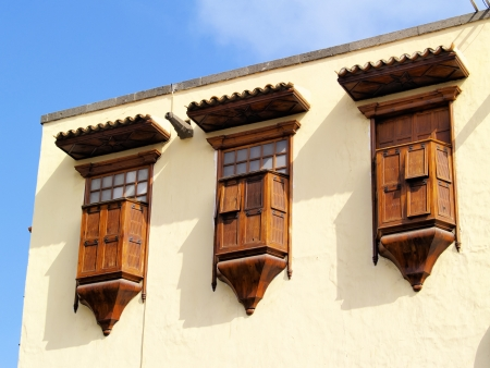 casa colon: Columbus House Detail(Casa de Colon), Las Palmas, Canary Islands, Spain Stock Photo