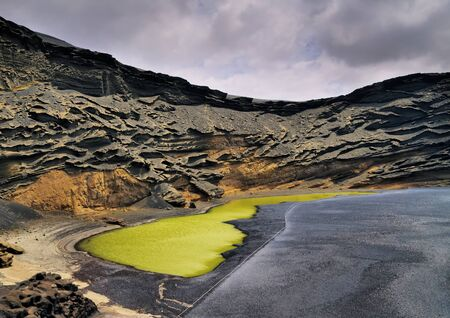 Green Lagoon on Lanzarote, Canary Islands, Spain          photo