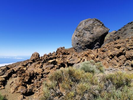 Volcanic Bomb, Teide National Park, Tenerife, Canary Islands, Spain Stock Photo - 13805161
