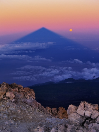 Sunrise on Teide, Big Shadow of the Mountain, Canary Islands, Spain Stock Photo - 13804551
