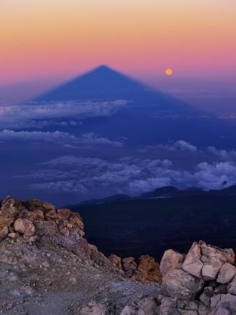 Sunrise on Teide, Big Shadow of the Mountain, Canary Islands, Spain photo
