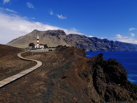 Lighthouse on Punta Teno, Tenerife, Canary Islands, Spain photo