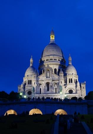 Basilique du Sacre Coeur in Montmartre, Paris Stock Photo