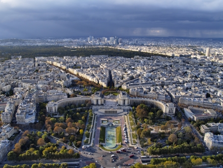 View from Eiffel Tower, Paris, France photo
