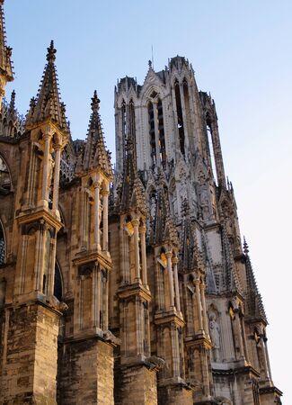 Cattedrale di Reims, Francia Archivio Fotografico - 14217551