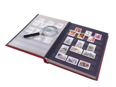 Stamps, conteptual studio isolated photo