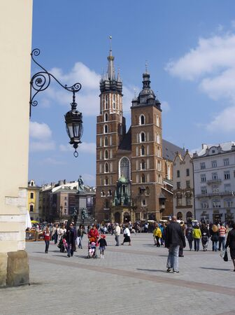 Old Town in Cracow, famous polish landmark