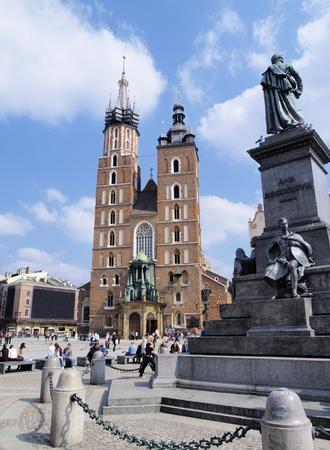 cracow: Mariacki Church in Cracow, Poland