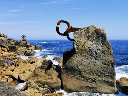el peine de los vientos, la famosa escultura de chillida en san