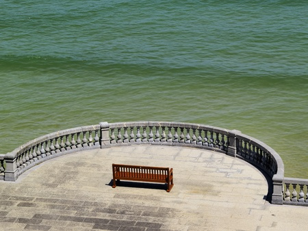 Bench in San Sebastian(Donostia), Spain photo