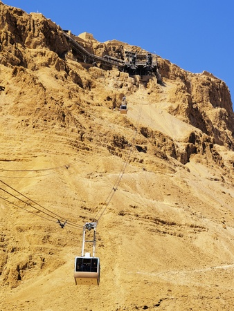 Cable Car to Masada, Israel photo