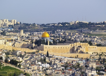 and israel: Jerusalem Cityscape, Israel Stock Photo