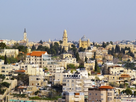 Jerusalem Cityscape, Israel photo