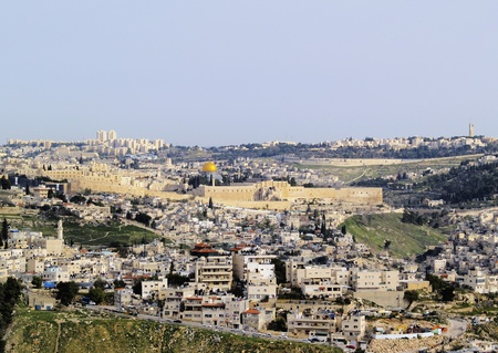 al aqsa: Jerusalem Cityscape, Israel Stock Photo
