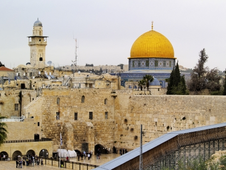 sephardi: Wailing Wall and Al Aqsa Mosque, Jerusalem, Israel