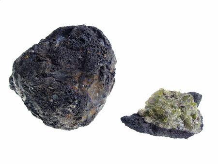 origin: Volcanic BombOlivine. Origin: Lanzarote Stock Photo