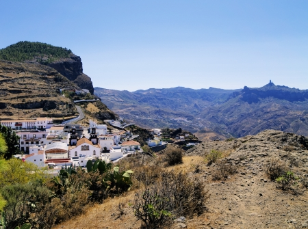 Artenara, Gran Canaria, Canary Islands, Spain  版權商用圖片
