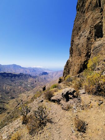 Roque Bentayga(Bentayga Rock), Gran Canaria, Canary Islands, Spain photo