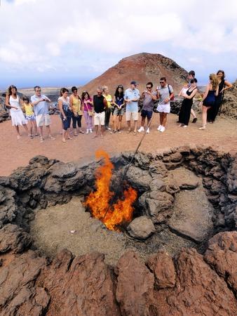 gush: Timanfaya National Park, Lanzarote, Canary Islands Editorial