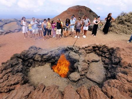 timanfaya: Timanfaya National Park, Lanzarote, Canary Islands Editorial