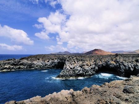 los hervideros: Los Hervideros, Lanzarote, Canary Islands, Spain Stock Photo