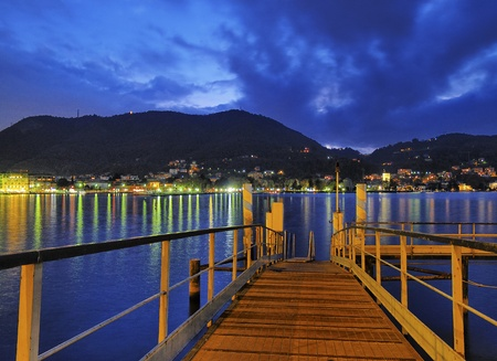 Como Lake, Lombardy, Italy 写真素材