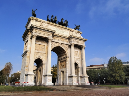 The Arch of Peace, Milan, Lombardy, Italy photo