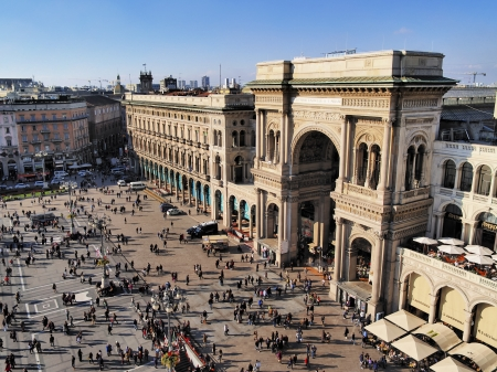 milano: Galleria Vittorio Emanuele II, Milan, Lombardy, Italy   Editorial