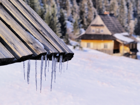 tatra: Icicles, Tatra Mountains, Poland    Stock Photo
