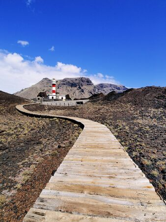 Lighthouse in Punta Teno, Tenerife, Canary Islands, Spain Stock Photo - 16582116