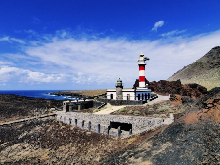Lighthouse in Punta Teno, Tenerife, Canary Islands, Spain Stock Photo - 16582093