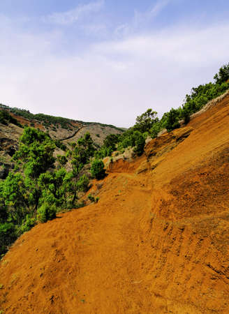 Orange Soil, El Hierro, Canary Islands photo