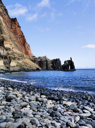 bonanza: Roque de la Bonanza, Hierro, Canary Islands, Spain Stock Photo