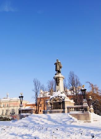 mickiewicz: Adam Mickiewicz Monument, Warsaw, Poland