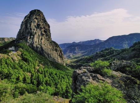 Los Roques The Rocks , La Gomera, Canary Islands, Spain 写真素材