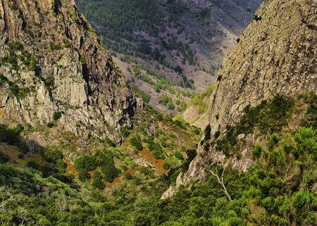 vallehermoso: Los Roques The Rocks , La Gomera, Canary Islands, Spain Stock Photo