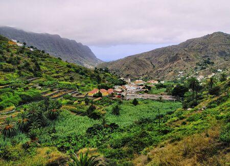 vallehermoso: Hermigua, La Gomera, Canary Islands, Spain Stock Photo