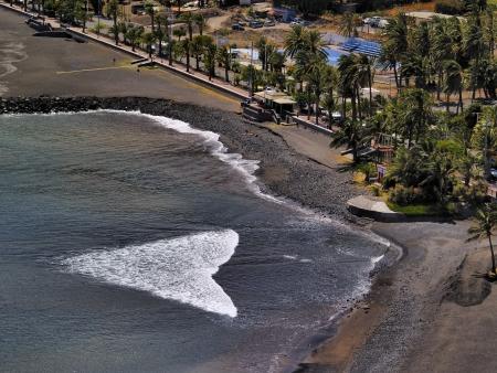 vallehermoso: Beach of San Sebastian de la Gomera, Canary Islands, Spain