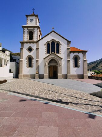 vallehermoso: Church in Vallehermoso, La Gomera, Canary Islands, Spain