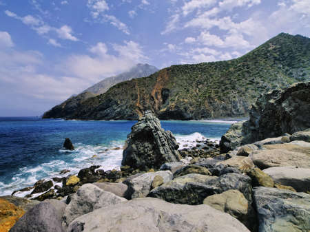 vallehermoso: Rocky Beach of Vallehermoso, La Gomera, Canary Islands