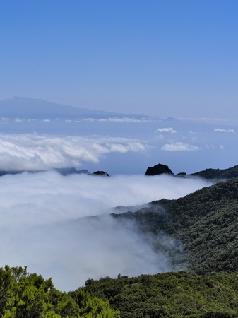 View from Alto de Garajonay, La Gomera, Canary Islands, Spain photo
