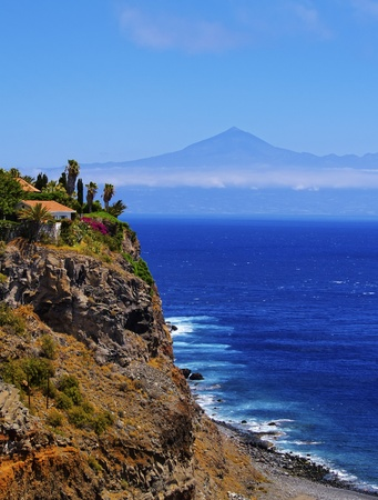 vallehermoso: Coast of La Gomera, Canary Islands, Spain