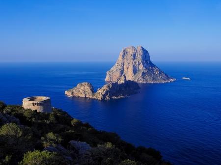 des: Torre des Savinar, Ibiza, Balearic Islands, Spain Stock Photo