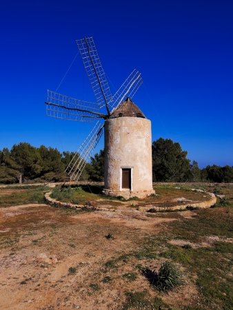 Windmill in el Pilar de la Mola, Formentera, Balearic Islands photo
