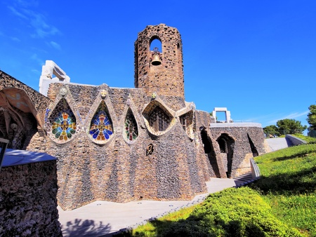 Unfinished Church in Colonia Guell, Catalonia, Spain