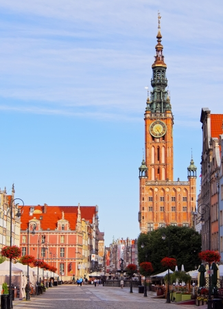 City Hall of the main city of Gdansk, located on Dlugi Targ - Long Market Street, Poland. photo