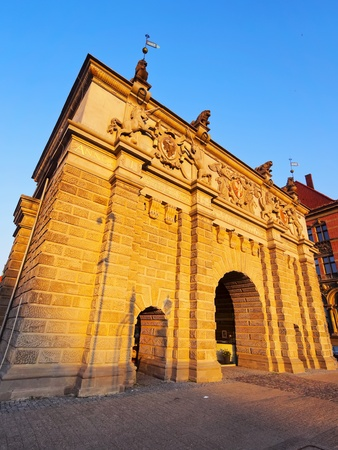 uplands: Brama Wyzynna - Uplands Gate on the old town of Gdansk, Poland