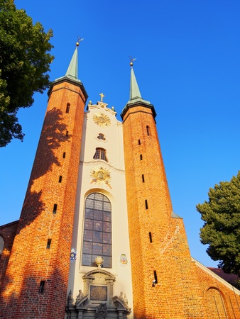 oliva: Cathedral in Oliwa - famous for its beautiful organs in Gdansk, Poland. Stock Photo
