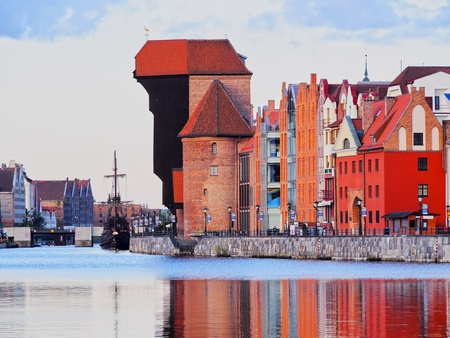 Port Crane - Gate in the old harbour of Gdansk, Poland photo